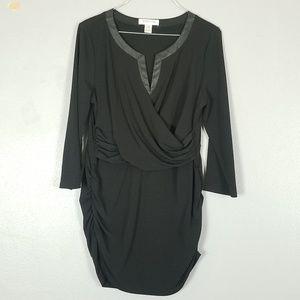 Motherhood Maternity black long sleeve blouse M